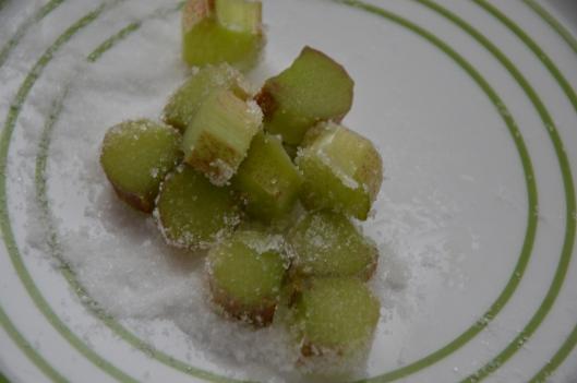 Rabarber med socker