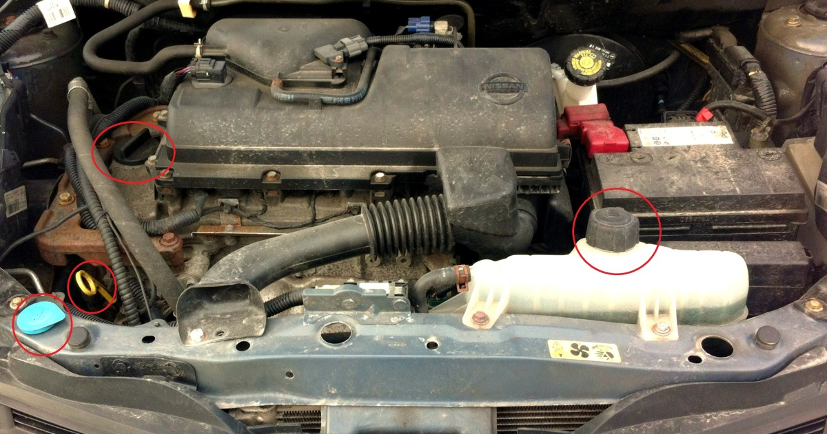 DIY: Fyll på vätskor under motorhuven